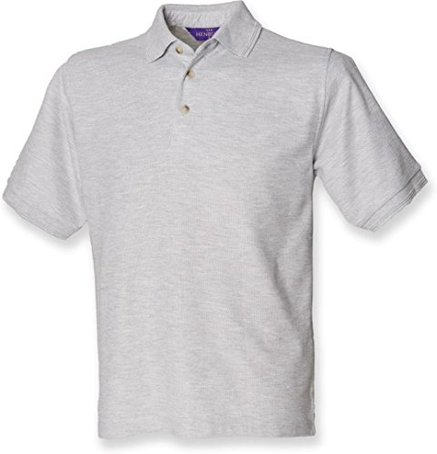 Ultimate Pique Shirt - Henbury Men's Ultimate Heavy Pique Short Sleeve Polo Shirt Heather M