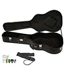 GO-DPS ChromaCast Acoustic Guitar Hard Case CC-AHC with Guitar Strap and Pick Sampler