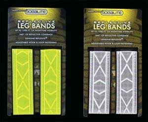 - Reflective Leg Band Made With Genuine Reflexite in America - By Jogalite (Pair of Yellow and Pair Of White))