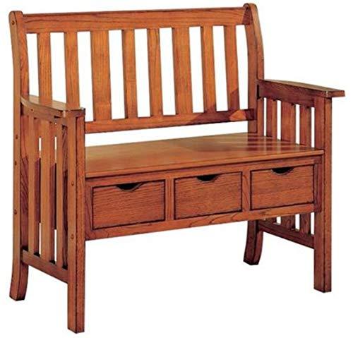Coaster 300075 3-Drawer Storage Bench, Warm Brown