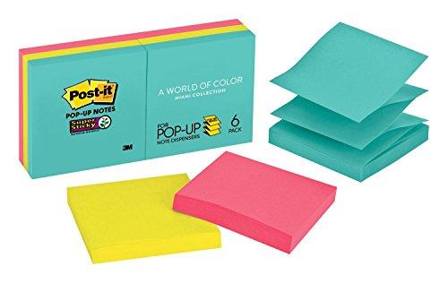 (Post-it Super Sticky Pop-up Notes, 2x Sticking Power, 3