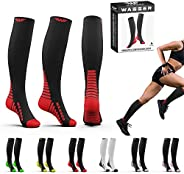 Compression Socks For Women & Men 20-30 mmhg - Running Hiking Ski Pregn