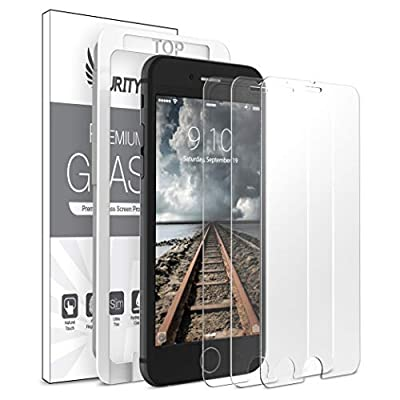 Purity Screen Protector for iPhone 8 Plus / 7 Plus - 3 Pack (w/Installation Frame) Tempered Glass Screen Protector Compatible with iPhone 8 Plus, iPhone 7 Plus (3 Pack)