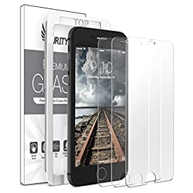 Purity Glass Screen Protector for iPhone 8 Plus / 7 Plus (3-Pack) [w/Installation Frame] Tempered Glass Screen Protector Compatible with Apple iPhone 8 Plus, iPhone 7 Plus [Case Friendly] (3 Pack)
