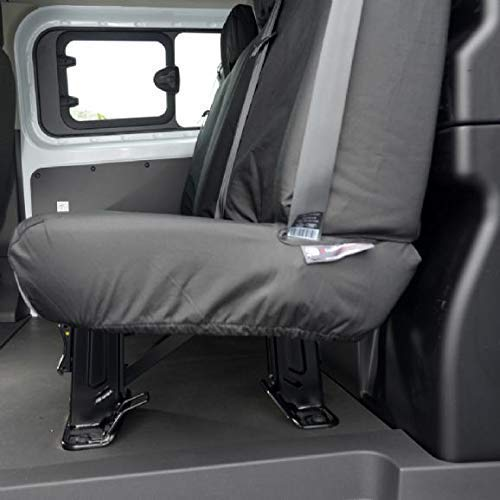 colore nero UK Custom Covers SC131B Heavy Duty impermeabile per sedili posteriori