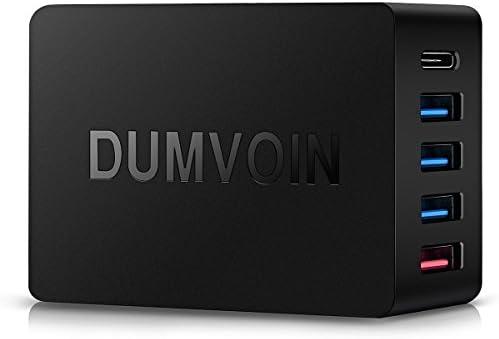 Quick Charge 3.0 & USB Type-C Cargador, Dumvoin Multi Puerto USB ...