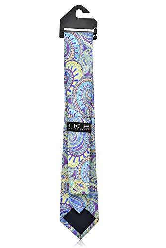 Ike Behar Boys 52'' Purple And Green Pasley Tie by Ike Behar (Image #3)