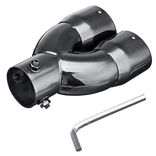 FidgetKute 63 mm Doppel-Endschalld/ämpfer Auspuffblende Endrohr Auslass Universal Auto Eingang Dual