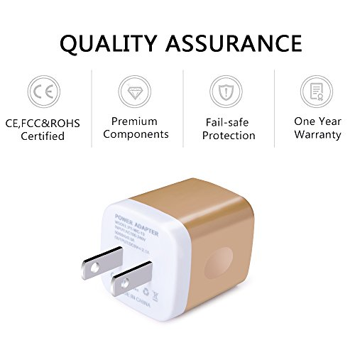 USB Charging Box, Charger Adapter, Ailkin 3-Pack 2.1Amp Dual Port Fast Charge Plug Cube Base for iPhone X/8/7/6S/6S Plus/6 Plus/6, Samsung Galaxy S7/S6/S5 Edge, LG, HTC, Huawei, Moto, Kindle and More by AILKIN (Image #1)