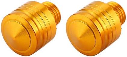 1.25 2 piezas Tornillos de rosca universal para motocicleta Tornillos adaptadores Asiento del espejo retrovisor modificado Asiento Color dorado Terisass Tornillo del espejo retrovisor M10