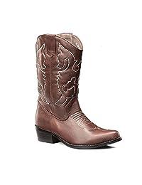 Lara's Womens Winter Western Cowboy Boots Mid Calf Wedding Shoes