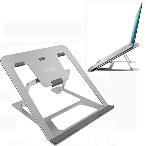 - Laptop Stand - Folding Adjustable Laptop Stand Portable Desktop Stand 6 Angles Adjustable Ventilated Computer Stand for 12-14inch MacBook Air Pro/Notebook/ iPad/PC