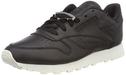 Reebok Classic Leather Hardware, Sneaker Donna Nero (Black/Chalk)