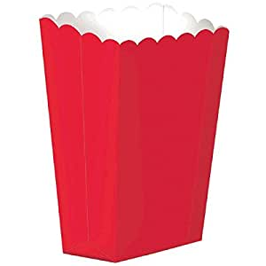 "Amazon.com: Amscan Fun Large Popcorn Boxes, 7-1/4 x 5-1/4""7-1/4 x 5-1/4"", Red: Toys & Games"