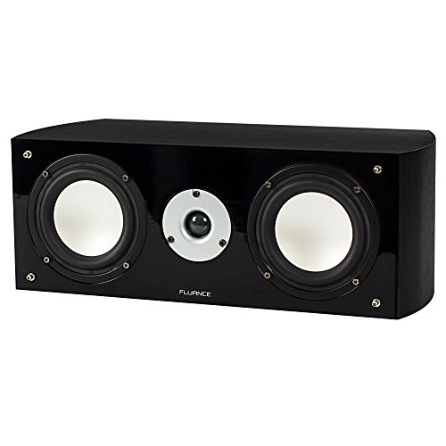 Fluance XL7C High Performance Two-way Center Channel Speaker for Home Theater - Black Ash by Fluance