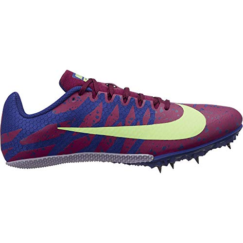 527331c932b Nike Women s Zoom Rival S 9 Track Spike Bordeaux Lime Blast Regency Purple  Size 11 M US