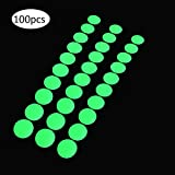 Glow in The Dark Tape Dots, 1 Inch Round, 100 Glowing Dots Sticker on a Roll