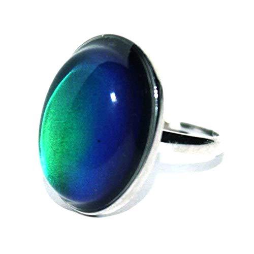 blinkee Adjustable Oval Mood Ring | Rainbow