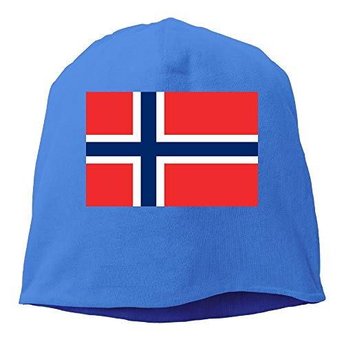 DAHUACHUANGZHAN Flag of Norway Beanie Hat Stars Fashion Unisex Skull Cap