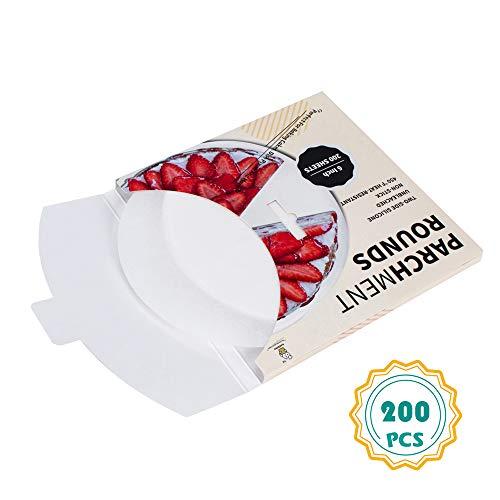 - Parchment Paper Rounds-(200,6 Inch), 6″8″9″10″12″ Parchment Circles Cake Pan liners