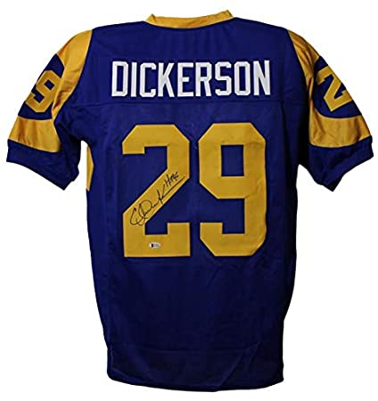 Eric Dickerson Autographed Los Angeles Rams XL Blue Jersey HOF BAS ... 9cd814f7f