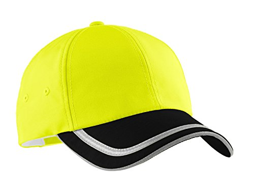 TOP HEADWEAR Enhanced Visibility Cap - Safety Yellow/Black/Reflective