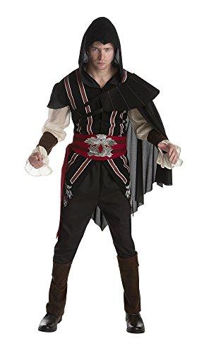 [Palamon Men's Assassin's Creed Ezio Classic Costume, Black, Large] (Assassin Creed Movie Costume)