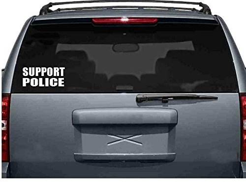 StickerLoaf Brand SUPPORT POLICE Law Enforcement car truck Laptop Decal Sticker decals sticker POLICE COPS SWAT LAW ENFORCEMENT PEACE OFFICER Donate Charity