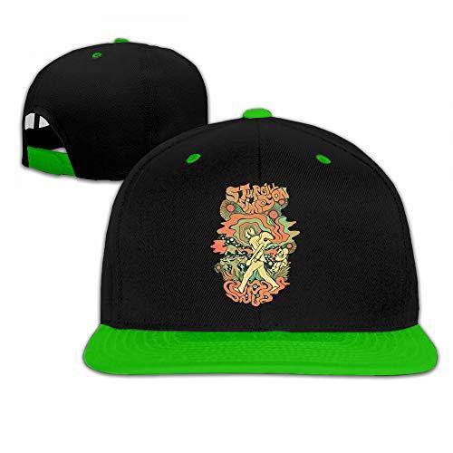 (Sturgill Simpson Women's Men's Adjustable Funny Solid Flat Bill Hip Hop Contrast Color Cap Youth Baseball Hat Green )