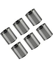 Healifty 6pcs Metal Paint Cans with Lids Unlined Round Paint Can Empty Paint Can for Arts and Crafts, DIY Projects, Painting, Garage Organization (0. 2L) Silver