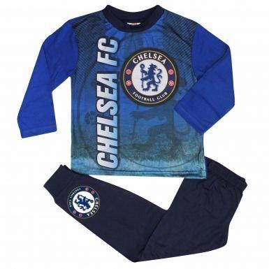KidsチェルシーFC Crestパジャマでフルカラー印刷 B0771PYTYWKids Size 7-8 Years