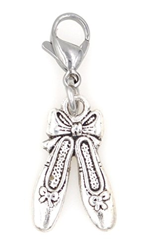 It's All About...You! Ballet Slippers Clip on Charm Perfect for Necklaces Bracelets 100F