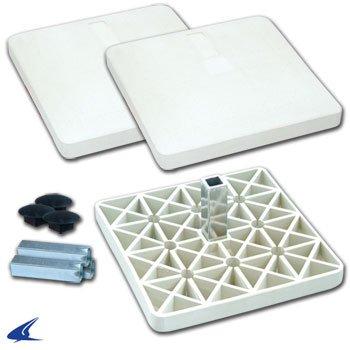 Champro Pro Style Rubber Base Set (White) by CHAMPRO