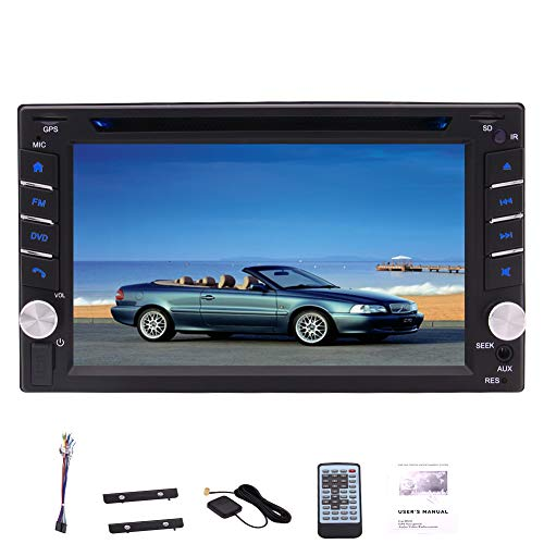 Eincar 6.2 Inch Double DIN DVD CD Player Car Radio 800 480 High-Resolution Capacitive Touch Screen Autoradio Stereo Headunit Support Multimedia Player HD 1080P AM FM RDS Radio Built-in Bluetooth