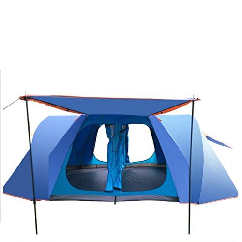 責める家畜子音テントアウトドア自動大宇宙テント5-6ダブル雨嵐屋外キャンプアウトドアテントパッケージ2ベッドルーム1