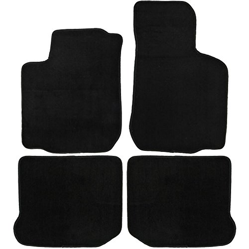 Beetle Carpet Volkswagen (UAA Custom-fit Black Carpet Car Floor Mats Set for Volkswagen Beetle 1998-2010)