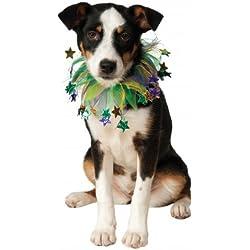 Rubie's Costume Co Fancy Mardi Gras Stars Pet Collar, Small/Medium