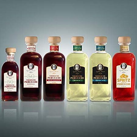 Vermouth Perucchi Gran Reserva Dorado – Pack vermouth + 2 vasos – Elaborado en España – 15% Alcohol – Selección Vins&Co – 1000 ml
