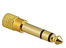 Premium High Quality Adapter STEREO GOLD Plug 1/4\