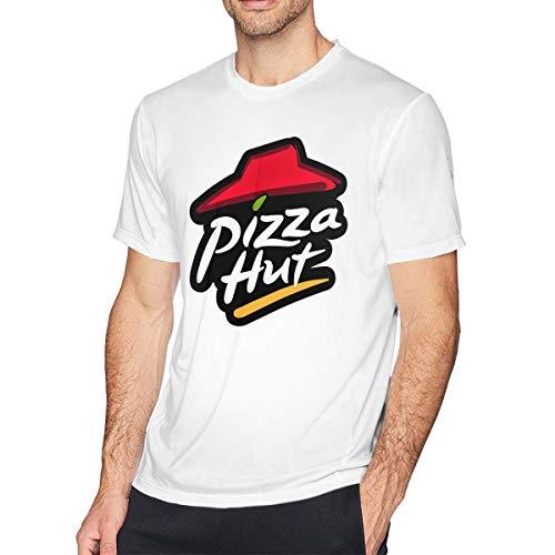 Cotton Vintage Sport Shirt - Men's Retro Pizza Hut Tee T Shirt Short Sleeve Round Neck Cotton T-Shirt Sports Tops Vintage Tshirt Youth Boys Shirts L