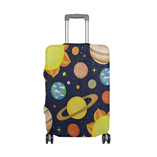 Luggage Cover Cartoon Planet Solar System Travel Case Suitcase Bag Protector 3D Print Design