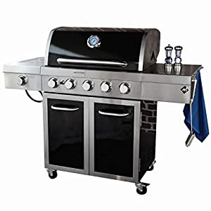 Amazon Com Mm Gas Grill 5 Burner Stainless Steel And