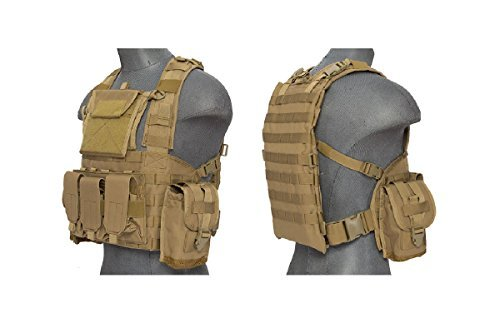 (Lancer Tactical CA-307T Modular Chest Rig in Tan)