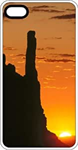 Rock Formations In The Sun White Rubber Case for Apple iPhone 4 or iPhone 4s