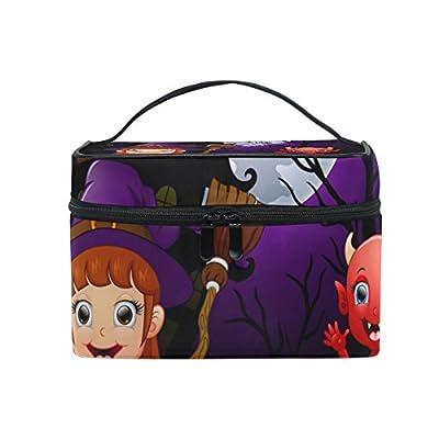 c5b267577f35 low-cost ALIREA Happy Halloween Cosmetic Bag Travel Makeup Train ...