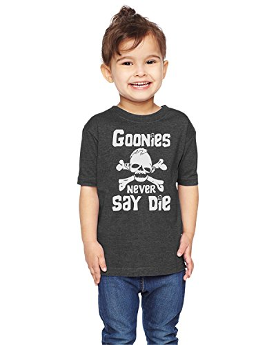 Brain Juice Tees Goonies Never Say Die Unisex Toddler Shirt (2T, Vintage Smoke)
