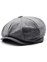 Men's Women's Premium Wool Blend 8Panels Plaid Herringbone Newsboy Hat