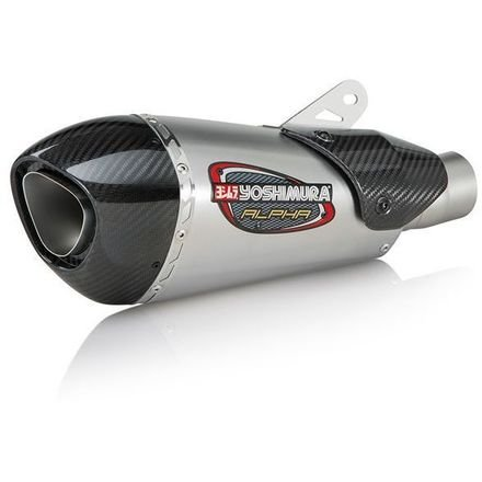 ABS: Yoshimura Alpha T Slip-On Exhaust (Street/Stainless Steel/Stainless Steel/Carbon Fiber/Works Finish) ()
