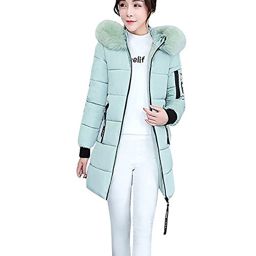 fur Jacket Women's LHWY Parka faux hooded Korean Style Outwear Warm Overcoat Coat Long Gray Slim Winter Thicker qrrI6Tx