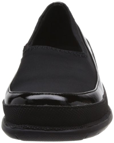 Softwalk Marla Flat Black Voor Dames